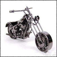 Wholesale home decor handmade crafts for sale - Group buy Iron Art Motorcycle Home Decor Handmade Motorbike Office Arts Ornament Crafts Decoration Retro Style Hot Sale lc ii