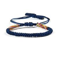 ingrosso braccialetti di macrame fatti a mano-Braccialetti intrecciati fatti a mano multicolori all'ingrosso di Macrame dei gioielli 10b / lot dei gioielli di Sandbeach di estate di Ailatu nuovo per il regalo