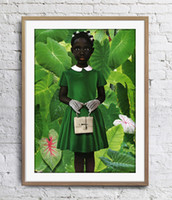Wholesale animals oil painting art resale online - Ruud van Empel Standing In Green Green Dress Art Poster Wall Decor Pictures Art Print Home Decor Poster Unframe Inches