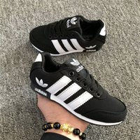Wholesale baby casual shoes high - High Quality &#913DIDAS Children Running Shoes Jogging Casual Canvas Shoe Classic Design Baby Kids Sports Sneakers