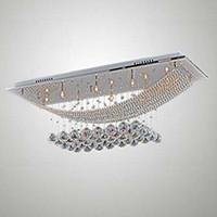 preço candelabro de lâmpada de cristal venda por atacado-Preço de atacado de Cromo Mais Barato Lustre De Cristal moderna pingente de luz led lâmpada Decorativa moderna Lustres de cristal para Sala de estar