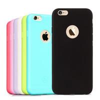 weiche fälle für iphone 5s groihandel-Nette Süßigkeit färbt weiche TPU Silikonfälle für iPhone 5 5S SE 6 6S 7 8 Plus X XR rückseitige Abdeckung