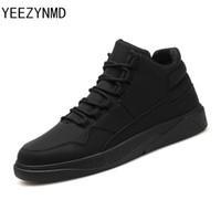 zapatos masculinos populares al por mayor-Zapatos ocasionales de los hombres con estilo Cordones cómodos Zapatos Hombres Cuero de la PU de moda Calzado masculino popular Negro Gris Calzado rojo