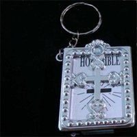 English Version Mini Religious Christian HOLY Bible Keychain Designer  Keychains Ring Key Holder Women Bag Charm Gift Souvenirs 1 2lh aa cd3860764ee5