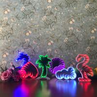 led yıldızlı şekilli ışıklar toptan satış-Yenilik 3D Işık LED Tünel Gece Işık Flamingo Kalp Yıldız Bulut Yuvarlak Şekil Kozmetik Ayna Nightlight Etkisi Hediye Dekorasy ...