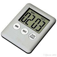 temporizador de cocina portátil al por mayor-Ultrathin Ultra Light Kitchen temporizador electrónico con estilo colorido Dispositivo de recordación magnética artículo de cocina alarma portátil 4 59wm Ww