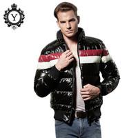 büyük erkekler rüzgarlıkları toptan satış-COUTUDI 2017 Yeni Kış erkek Ceketler Rahat Rüzgarlık Erkek Parka Ceket Siyah Aşağı Sıcak Ceket Ceket Pamuk Marka Büyük Boy