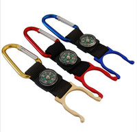Wholesale metal rings for keys for sale - Group buy Multifunction Keychian With Mini Compass Bottle Buckle Hang On Bag Metal Key Ring For Camping Climbing Equipment Sturdy Easy Carry bs ZZ