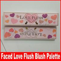herramientas de amor al por mayor-Love Flush Blush Maquillaje Blush Palette 6 colores Marca Face Blush Palettes Cara Belleza Herramientas de maquillaje