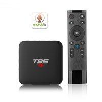 quad remote großhandel-T95 S1 Android 7.1 TV BOX 2 GB 16 GB Amlogic S905W Quad Core 2,4 GHz WiFi Media Player Smart Box Sprachfernbedienung