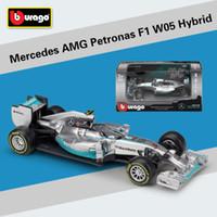 Wholesale f1 mini - 1:43 Scale Mini Metal F1 Car Formula 1 Model Benz Racing Car Simulator W05 W07 Alloy Toy Diecast Collection Model Kids Gift