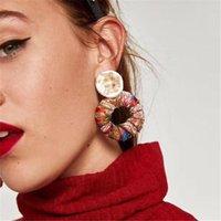 kadınlar için en iyi küpeler toptan satış-Best Lady Yeni Varış Renkli Bohemian Trendy Saplama Küpe Kadınlar Için Basit Tasarım Moda Bildirimi Küpe Takı Toptan 5 Pairs