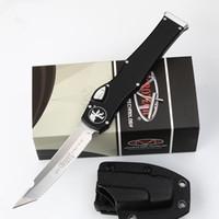 venda facas para caminhadas venda por atacado-NOVA Micro MT tecnologia facas Halo V halo VI Faca Tanto Borda única ação Faca automática Faca tática Facas de engrenagem de Sobrevivência A07 C07 616