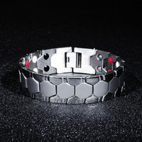 Discount titanium magnetic therapy bracelet - 7SEAS Energy Magnet Health Titanium Bracelets Magnetic Therapy Bangles Men Jewelry 7S002 Y1891908