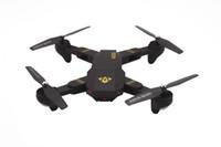 cámara de drone caliente al por mayor-2018 Hot Sellin XS809HW Drone RC Mini Drone Selfie plegable con Wifi FPV TIEMPO REAL 2MP Cámara HD Altitud Mantener Quadcopter Regalo de Navidad caliente