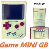 Wholesale Game MINI GB Portable Retro Mini Handheld Game Console Color LCD Game Player free DHL