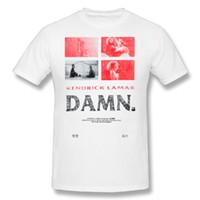 reise t-shirts großhandel-Herren 100% Baumwolle Kleidung T-Shirt Kurzarm T-Shirt Kendrick Lamar - Damn Vintage Poster Reisen Rundhals T-Shirt