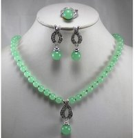 Wholesale jewelry earrings factory prices resale online - best gift fashion jewelry set factory price Women s semi preciousNatural stone Necklace earring ring set