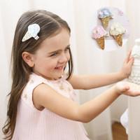 çocuklar için saç pençeleri toptan satış-Kız Için sevimli Saç Claws Dondurma Tokalarım Için Prenses Doğum Günü Partisi Pul Saç Çocuklar Için Pençe Saç Aksesuarları