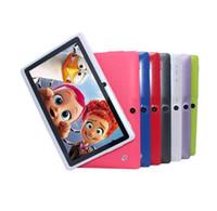 """ingrosso porcellana da tavolo 4g-7 pollici Android 4.4 economico semplice tablet pc wifi doppia fotocamera quad core 7 """"tab pc batteria compresse pc"""