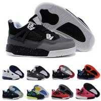 new arrival d47a0 c538e Nike air Jordan 4 13 retro 4s Pure Money Royalty White Zement Premium  Kinder Basketball Schuhe Black Bred Feuer Red Kinder Skateboard Turnschuhe