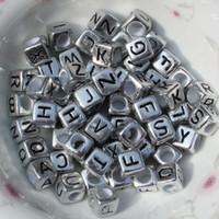 lucite kettenarmband großhandel-Metall Plattierung Alphabet Buchstaben