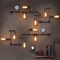 vintage endüstriyel stil ışık fikstürleri toptan satış-Antik Edison Retro Vintage Duvar Lambası Ev Aydınlatma Yemek Odası Için Indutry Tarzı Rustik Loft Endüstriyel Duvar Işık Fikstür