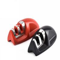 afilador profesional de cuchillas con sistema de afilado. al por mayor-Venta caliente útil Afilador de cuchillos 2 Etapas Sistema de Afilado de Cuchillo de Cocina Profesional con Cerámica Diamante Afilador