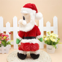 Wholesale Christmas Electric Santa - Christmas Santa Claus Figure Twisted Hip Twerking Singing Electric Toys for kids Good Christmas Toy Gift For Children Drop Ship
