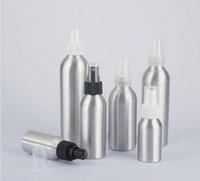 emballages de bouteilles en aluminium achat en gros de-30/50/100/120/150 / 250ml bouteille en aluminium de jet de pulvérisation de brume fine d'atomiseur de jet de parfum vide le récipient cosmétique d'emballage