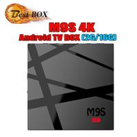 ingrosso caricare il filmato-Android 6.0 TV Box M9S K5 2 GB 16 GB Rockchip Smart TV Box componenti aggiuntivi caricati 3D Movie 4K Video Streaming TV media player