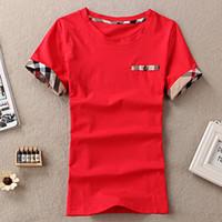 Wholesale Plaid Shirts Short Sleeve - women T-shirt Women's Rock Cotton Tops Tee Casual Short Sleeve T-Shirts 100% cotton