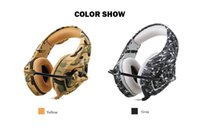 Wholesale Headphones Games - Camouflage PS4 Headset Bass Gaming Headphone Game Earphone Casque with Mic for PC Mobile Phone Xbox One Tablet K1b