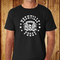 Wholesale pussy size - New Nashville Pussy Rock n Roll Band Logo Men's Black T-Shirt Size S to 3XL