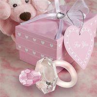 hochzeitsstreicher großhandel-Neue Party Geschenk künstliche Kristall Schnuller Charme Anhänger Mädchen Boy Baby Dusche Taufe Hochzeit Gunst Dekoration