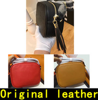 Wholesale high quality leather crossbody bags resale online - Soho Disco bag Designer Handbags high quality Luxury Handbags Famous Brands Crossbody Fashion Original Cowhide genuine leather Shoulder Bags