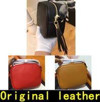 mode-qualität schultertaschen großhandel-Soho Disco Tasche Designer Handtaschen hochwertige Luxus Handtaschen Berühmte Marken Crossbody Fashion Original Rindsleder echtes Leder Schultertasche