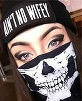 Wholesale biker halloween mask resale online - Skeleton Ghost Skull Face Mask Biker Balaclava Costume Halloween Cosplay party prop spirit festival decor gift