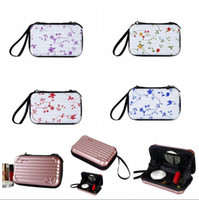 Wholesale organizers for suitcases - Portable Mini Make-up Cases 28 Styles Cosmetics Travel Organizer Bags for Women Zipper Makeup Suitcase Mini Luggage Case LJJO4532