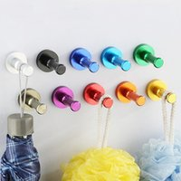 Wholesale wall hat holder - 2018 Aluminum robe hooks Towel Wall Hook Bathroom Kitchen Clothes Key Hat Bag Hanger Rack Holder Wall Mounted