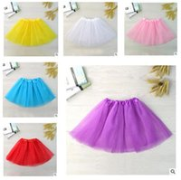 Wholesale wholesale tulle for tutus - Baby Girl Clothes Tiered Tulle Skirts Tutu Skirt Pleated skirts for Girls babies Party Clothes Best Gifts DHL Free shipping