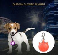 mehrfarbig geführtes keychain groihandel-A50 Hund glühender Anhänger Pet LED-Lampe Hund Licht Anhänger Glow Keychain