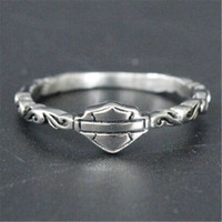 Wholesale Silver Ladies Ring Bands - 5pcs lot Size 5-9 Biker Style Lady Girls Ring 316L Stainless Steel Fashion Jewelry Popular Hot Selling Motorcycles Ring