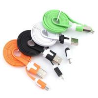 noodle usb телефонный шнур оптовых-Синхронизация данных зарядное устройство быстрая зарядка Micro USB кабель кабели портативный лапша Usb шнур Micro V8 зарядные устройства для Android сотовый телефон