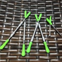 Wholesale silicone stainless steel dabber resale online - Custom Logo for dab tool silicone tip wax dabber tools mm stainless steel tool for wax vaporizer pen instock
