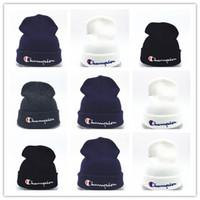 Wholesale novelty ties for men for sale - Group buy Cheap New beanies Knitted Hat Designer Champion Winter Warm Thick Beanie Fedora gorro Bonnet Skull Hats for Men women Crochet