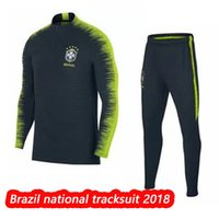 Wholesale drill shirts - Brasil CBF Vapor Knit Strike Drill tracksuit 2018,football traing suit,brazil national soccer sweater,football tracksuit sport wear shirt