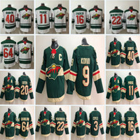 Wholesale ryan suter - 2018 Minnesota Wild Hockey 9 Mikko Koivu 64 Mikael Granlund 11 Zach Parise 16 Jason Zucker 20 Ryan Suter 46 Jared Spurgeon Jerseys