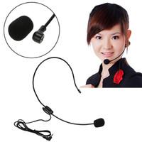 amplifikatör için mikrofonlar toptan satış-Taşınabilir Hafif 3.5mm Kablolu Sınıf Sunum Amplifikatör Hoparlör Mikrofon Kulaklık Muitifunction Mikrofon