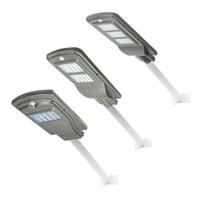 street light achat en gros de-LED 20/40 / 60W Capteur de Radar Solaire Contrôle de la Lumière Murale Lumière Murale Murale Extérieur Lampe de Sécurité Spot Éclairage Imperméable À L'eau